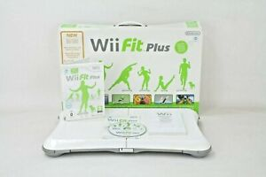 Boxed Official White Nintendo Wii Fit Plus Balance Board & Wii Fit Plus Game