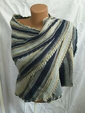 New unique Hand knit  handmade mohair shawl sweater wrap capelet  scarf