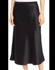 Vince Pure Silk Black Vintage Polka Dot Slip Skirt S