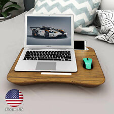 HOME Portable Laptop Table Tray Bed Phone Holder Laptop Stop Bar Pillow Cushion