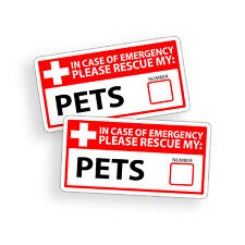 Pet Rescue Sticker Emergency 1st First Aid Fire Safety Window Door Decal 911