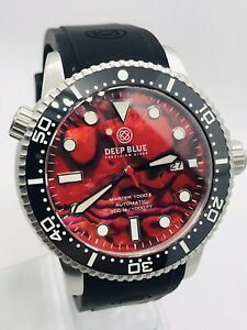 DEEP BLUE MASTER 1000 II 44MM AUTOMATIC DIVER CERAMIC BEZEL-RED ABALONE DIAL