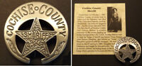 Cochise County Arizona Territory Sheriff Badge, old west, western, Tombstone