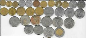 Flea Market Lot 31 Mix Date/Type Thailand 10 20 50 Satang 1 2 5 & 10 Baht Coins