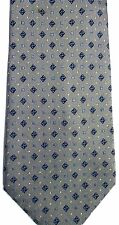 "Countess Mara Men's Silk Tie 59"" X 4"" Olive w/ navy/gray/white Geometric"