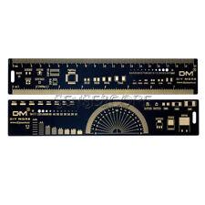 20cm Multifunctional PCB Ruler PCB Measuring Tool Angle Measure Meter Black