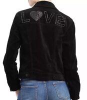Women's EV1 Ellen Degeneres Love Black Velvet Jacket Size XXL (2XL)