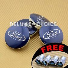 4 Blue Car Alloy Rim Wheel Center Hub Cap Hub Badge Logo 65mm face for FORD