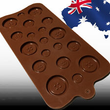 Button Buttons Shape Cake Fondant Cookie Chocolate Silicone Mould Mold HKIMO1989