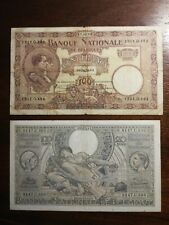 Lot of 2 Belgium Banknotes 1924-1941 CIRC #20K03