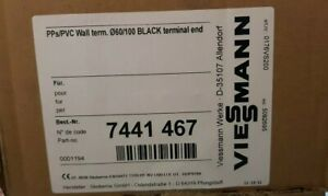 Viessmann 7441467   60/100 BLACK terminal end