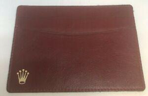 Genuine Vintage ROLEX Red Leather Card Holder Wallet