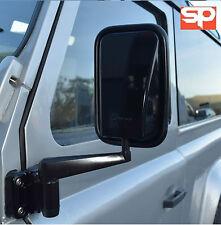 LAND Rover Defender Gloss Nero Specchietto Retrovisore Esterno TESTE 90 110 PAIR RH LH x2