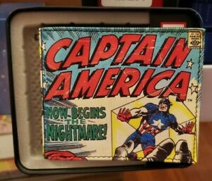 Marvel Captain America 115 Silver Age Classic Bifold Wallet RED SKULL w TIN New