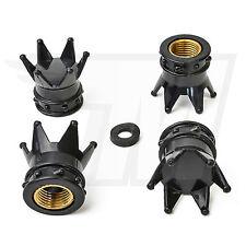 4x Tapón De La Válvula AUS plástico para Neumáticos coche, CORONA EN NEGRO