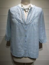 River Island Blouse ~ Size 12 ~ Pale Blue ~ 3/4 Sleeve ~ Casual, Everyday ~ 1653