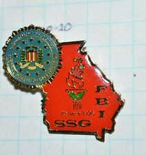 "FBI ATLANTA GEORGIA OLYMPICS 1996 SSG SPECIAL SURVEILLANCE RED 1.5"" LAPEL PIN"