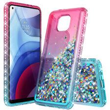 For Motorola Moto G Stylus/Play/Power Case Liquid Bling Glitter TPU Phone Cover