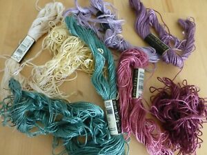 DMC Perle Cotton Threads~SIZE 5 Job Lot 1/2 skeins ~ 3042*3041*502*223*Ecru + 3