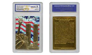Patriotic World Trade Center 9/11 * Original * 23K Gold Card Graded GEM-MINT 10