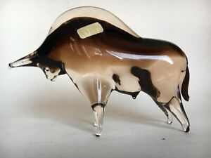 Carlo Nason Murano- Toro in vetro sommerso sfumato.