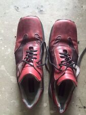 euc KENNETH COLE square toe LEATHER lace up casual SHOES men 12 italy reddish