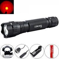 COMUNITE 501B 2000LM CREE rojo LED Linterna táctica 20mm Montaje caza Luz