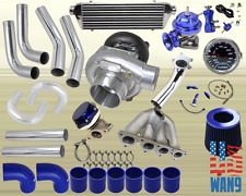 Top Mount D15B D15Z Civic Cx Dx Ex T04E Turbocharger Turbo Kit Blue+Bov+Wg+Gauge