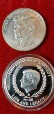 2 John F Kennedy Commemorative Coins