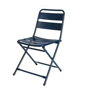 Destination Summer Folding Bistro Chair - NAVY (BRAND NEW, IN BOX) SET OF 2