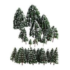 32x Miniature White Snow Model Tree 2.5-16cm Mix Size for Train Railroad DIY