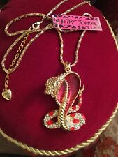 Large Betsey Johnson Cobra Pendant-Red
