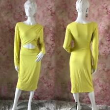 RIVER ISLAND NEON GREEN SEXY BODYCON PARTY DRESS SIZE UK 18  # ( 38 - 19 )
