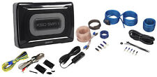 Kenwood KSC-SW11 150 Watt Compact/Slim Powered Subwoofer w/ Bass Remote+Wire Kit