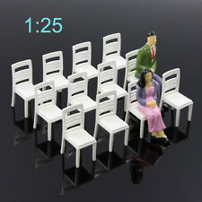 ZY15025 12pc Model Train Railway Leisure Chair Settee Bench Scenery 1:25 G Scale