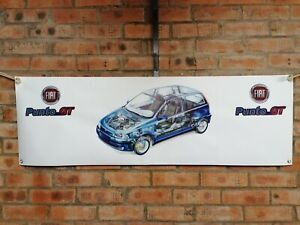 Fiat Punto gt t large pvc show banner work shop garage shed