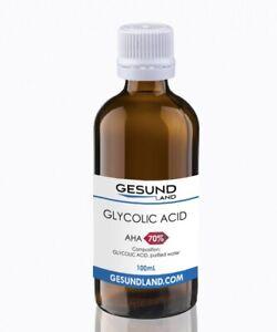 70% 100 ml  Glycolic Acid Chemical Face Peel Kit Medical Grade 100% Pure