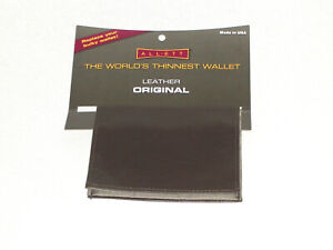 ALLETT THINNEST WALLET ORIGINAL LEATHER 20101 BROWN MADE IN THE USA