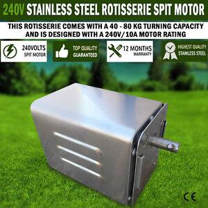 NEW Euro-Grand Stainless Steel Rotisserie BBQ Spit 240V Motor 40/80kgs Capacity