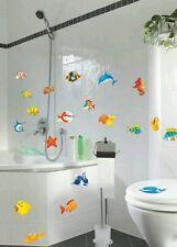 2x Bagno DECORAZIONE Animali marini SET Adesivo da muro murale WC