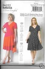 B6222 WOMENS  PLUS SIZE DRESSES XXL/6XL  NEW BUTTERICK SEWING PATTERN 6222