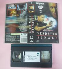 VHS Film VERDETTO FINALE Denzel Washington John Lithgow 1994 RCS (F163) no dvd