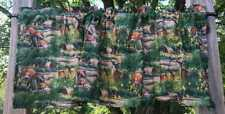 Deer Doe Buck Fawn Forest Wildlife Animals Cabin Lodge Green Handcrafted Valance