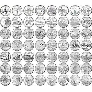 1999-2008 COMPLETE 50 STATE QUARTERS SET! D & P Mix 50 Different coins!