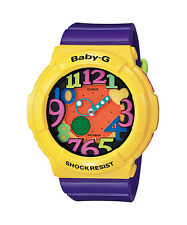 CASIO BGA-131-9B Baby-G Ana-Digi LED 90's Look Resin Strap Yellow Purple