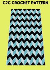 Cool Zig Zag Blanket  - C2C Graphghan Crochet Pattern
