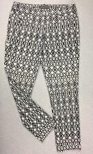 "JACQUI E Women's Ankle Pants size 10 Black & White waist= 32"" Stretch Slim Fit"