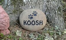 PET MEMORIAL CAT OR DOG PERSONALIZED SANDCARVED RIVER STONE