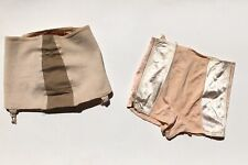 Lot Of 2 Vintage 1940s Panel Open & Closed Girdle Garters Zipper