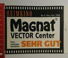 Aufkleber/Sticker: Magnat Vector Center 1994 sehr gut Heimkino (04081691)